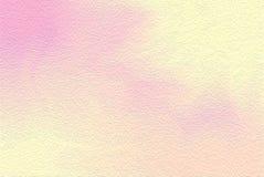 Rosa färgrik ljus målarfärgborste för konst på pappers- texturbakgrund, mång- färgrik pastell för tapet för färg för vatten för m stock illustrationer