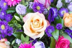 Rosa färgros i begravnings- krans Royaltyfria Foton