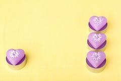Rosa färgstearinljus i formen av hjärta Royaltyfri Fotografi