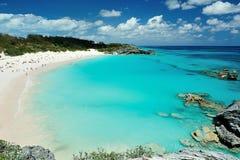 Rosa färgstrand i Bermuda öar royaltyfria bilder