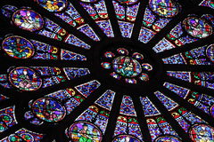 Rosa fönster Arkivbild