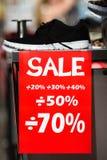 rosa försäljningsyellow Arkivbilder
