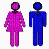 Rosa für Mädchenblau für Männer: Standard Lizenzfreie Stockbilder