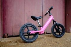 Rosa Fahrrad Stockfoto