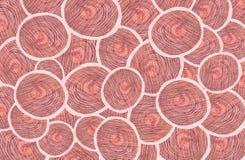Rosa Farben der runden Ovale vektor abbildung