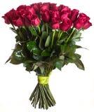 Rosa fiorisce il mazzo isolato Fotografia Stock