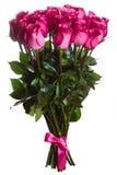 Rosa fiorisce il mazzo isolato Immagini Stock Libere da Diritti
