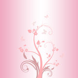 rosa fjäder vektor illustrationer