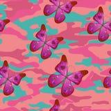 Rosa fjäril Arkivfoton