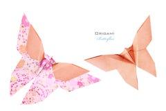 Rosa fjärilsuppsättning Arkivfoto