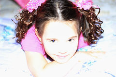 Rosa flicka arkivfoton