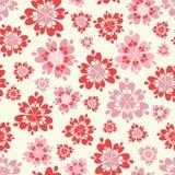 Rosa floreale di vettore e fondo senza cuciture rosso del modello di ripetizione illustrazione vettoriale