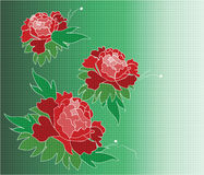 Rosa floresce a composição Ilustração do Vetor