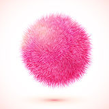 Rosa fluffig vektor isolerad sfär Arkivfoton