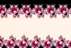 Rosa fractalblommor formar med ett kopieringsutrymme på ljus bakgrund med titelradremsan och rubricerar utrymme Royaltyfri Bild