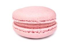Rosa französische Makrone lizenzfreie stockfotos