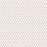 Rosa fresco e file verde chiaro dei quadrati nella progettazione di ripetizione del mattone Modello geometrico senza cuciture di  royalty illustrazione gratis