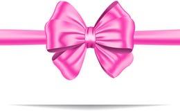 Rosa gåvaband med bowen Arkivfoton