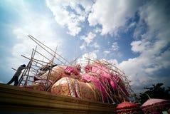Rosa Ganesh Hindu God Statue Stockfotos