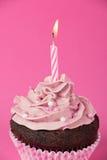 Rosa Geburtstags-kleiner Kuchen Lizenzfreies Stockfoto