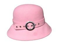 Rosa-geglaubter Hut Stockbild