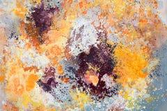 Rosa, gelbe und orange Malerei der abstrakten Kunst vektor abbildung