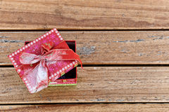 Rosa Geschenkbox Stockfotografie