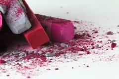 Rosa grå färger 2 för pastellfärgad krita Arkivfoton
