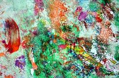 Rosa grüne purpurrote orange Farbenstellen, klarer Hintergrund, malende abtract Farben lizenzfreie stockbilder