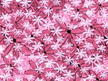 Rosa grafitti utformar den blom- modellbakgrunden vektor illustrationer