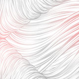 Rosa grigio allineato Reticolo astratto senza giunte arte allineata disegnata a mano Fotografie Stock Libere da Diritti