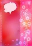 Rosa Grußkarten für Valentinstag Stock Abbildung