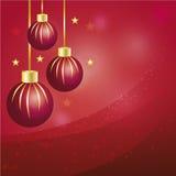 Rosa guld- julbollar Royaltyfria Bilder