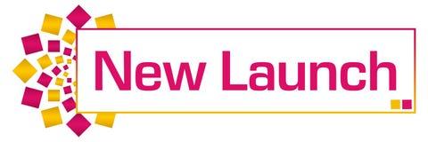 Rosa guld- rund stång för ny lansering stock illustrationer