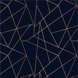 Rosa guld- sömlös modell Absctract geometrisk bakgrund Hav royaltyfri illustrationer