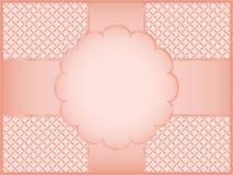 Rosa gåvaomslagspapper Royaltyfria Bilder