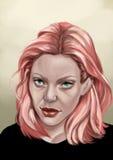 Rosa hår Arkivfoto