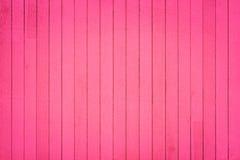 Rosa hölzerne Wandbeschaffenheit und -hintergrund Lizenzfreies Stockbild