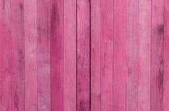 Rosa hölzerner Beschaffenheitshintergrund Stockbild