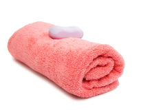 rosa handduk Royaltyfria Foton