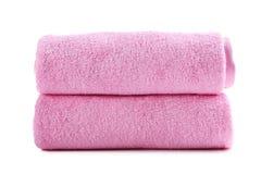 rosa handduk Fotografering för Bildbyråer
