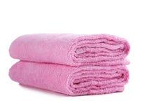 rosa handduk Arkivbilder