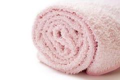 rosa handdukwhite Arkivfoto