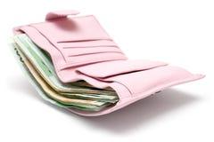 rosa handväska Royaltyfri Fotografi