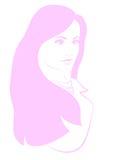 Rosa Hauptschattenbild der Mädchen Lizenzfreies Stockfoto