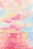 rosa hav Arkivbilder