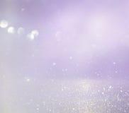 Rosa-, hellpurpurne und silberneabstrakte bokeh Lichter Stockfoto