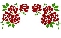 Rosa hermosa aislada en blanco Perfeccione para las tarjetas de felicitación del fondo y las invitaciones de la boda, cumpleaño stock de ilustración