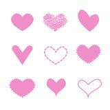 Rosa Herz der Liebe Lizenzfreie Stockfotos