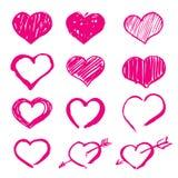 Rosa Herzen stellten Ikonen ein Stockfotos